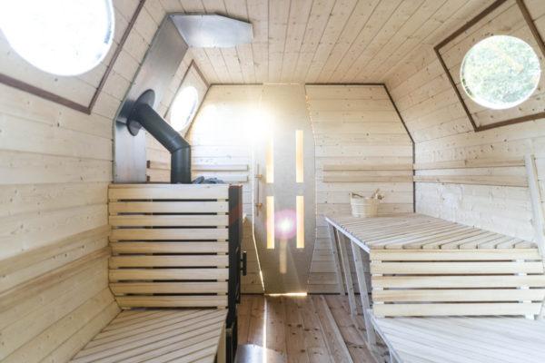 Mobile Sauna Leipzig Innenansicht
